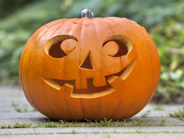 Truco o Trato calabazas y comida para Halloween